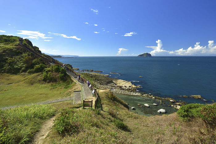 Holiday Rock Taiwan Travel Beach Beauty In Nature Blue Cliff Day Grass Horizon Over Water Island Keelung Landscape Mountain Nature No People Outdoors Scenics Sea Sky Summer Tranquil Scene Tranquility Water