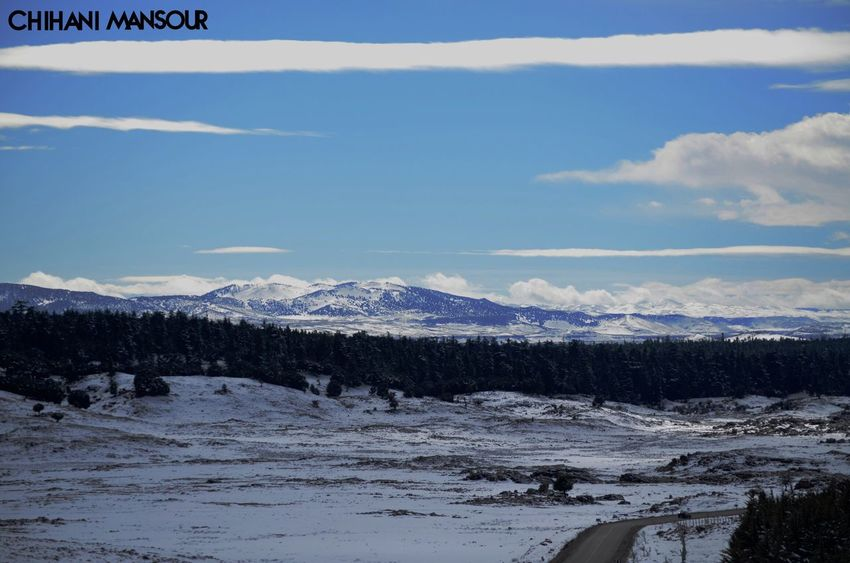 Life is about new mountains to climb- #mountains #sky #landscape #Ifrane #road #life #cloud #beauty #snow #cold #trees #Ifrane #morocco #photography #photographer #followforfollow
