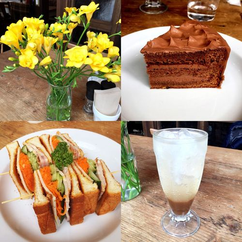 Cafe Breakfast Sandwiches Gingerale Cake Chocolate