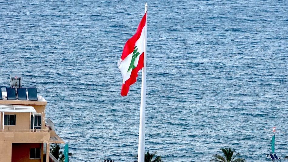 Deepest blue Flag National Icon Symbolism Lebanon 😍😍 Tranquil Scene Beauty In Nature Scenics Majestic Creativity Lebanon Tranquility Photography Travel Destinations