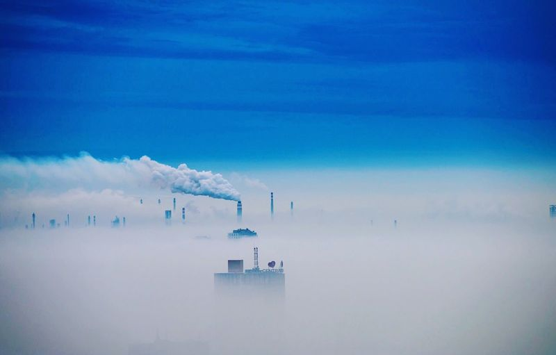 Factory Building Sky Cloud - Sky Water Beauty In Nature Nature No People Scenics - Nature