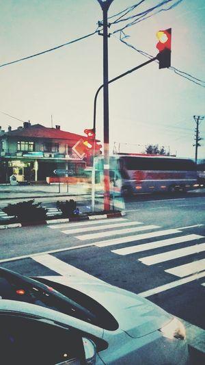 Popular Photos Enjoying Life Traveling Bus Bus Trip City Traficlight Street Lamp Cars Vintage