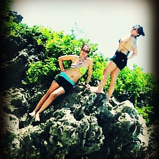 Me and my friend @lovelymoli at 100islands , Alaminos . 😊 lets go to the ☀☁🌊 Beach Instagood Instagame Instafamous Travelingram Travel Pangasinan Weekend Beach Beachbum Nature Rocks Trees Sun Heat Backpacking Pangasinan Weekend Tattoo Art Iphoneasia Iphoneonly