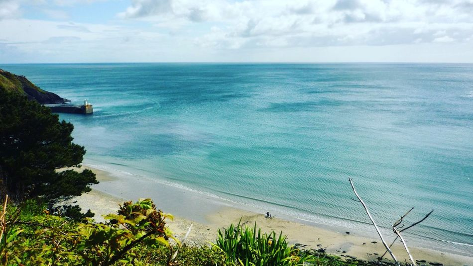 Sea Horizon Over Water Sky Water Scenics Beauty In Nature Tranquil Scene Nature Cloud - Sky Tranquility High Angle View Day Outdoors No People Blue Tree Isle Of Man Laxey Julian Melling Real People People Sommergefühle Lost In The Landscape