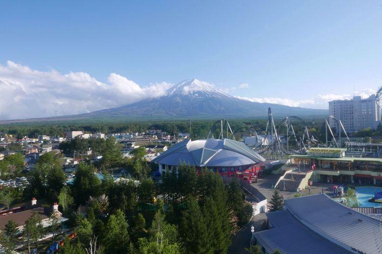 Mountain Mtfuji Amusementpark Fujiqhighland Scenery Top View Beautiful Day