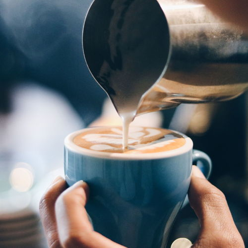 The cut Art EyeEm Selects Human Hand Frothy Drink Drink Motion Holding Coffee - Drink Drinking Pouring Coffee Cup Cafe Cappuccino Coffee Caffeine