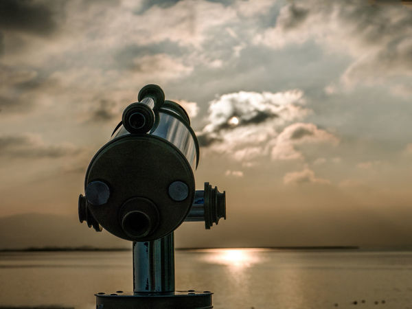 view to the sun Binoculars Bodensee Cloud - Sky Coin-operated Binoculars Fernglas GERMANY🇩🇪DEUTSCHERLAND@ Hand-held Telescope Nature No People Optical Instrument Outdoors Scenics Sea Sky Sunset Telescope Winter