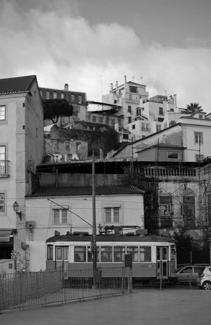 Shoot in Lisbon. The old railway electrico 28. 28ekim Barrio Black & White Black And White Black&white Blackandwhite Blackandwhite Photography Bw Carreira Charme City Electrico De Lisboa Electrico28 Eléctrico Europe Houses Lisboa Lisboa Portugal Lisbon Lisbonlovers Lissabon Old Romantic Tram First Eyeem Photo