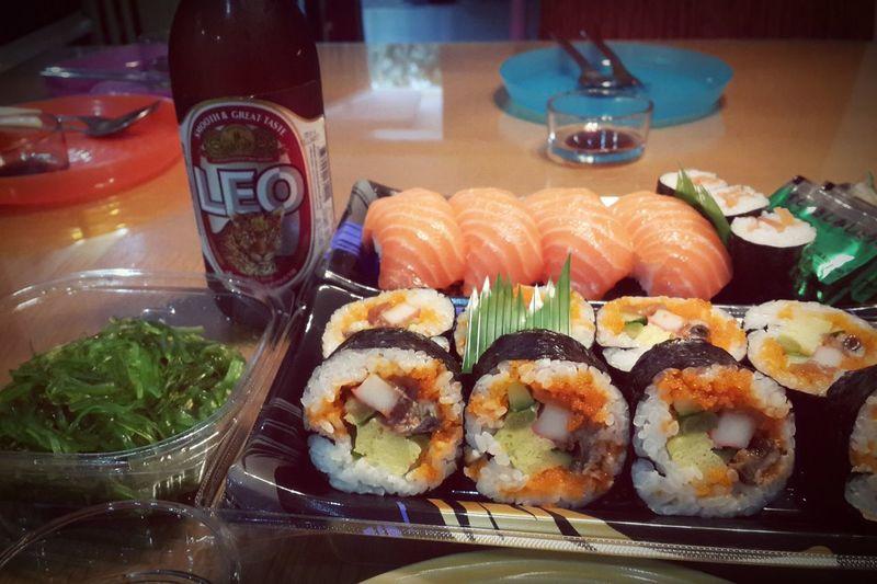 Yum..Yum...Yummi... Dinner Time Taking Photos Chill At Home Enjoy Eating Sushi Time