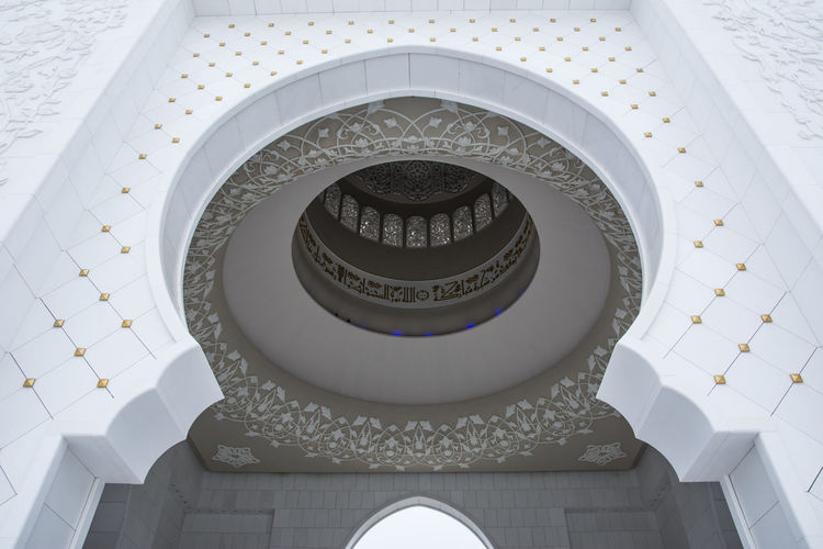 Arch Architectural Feature Architecture Architecture And Art Art And Craft Building Built Structure Ceiling Cupola Day Design Directly Below Dome Geometric Shape History Indoors  Low Angle View No People Ornate Pattern Shape Staircase The Past