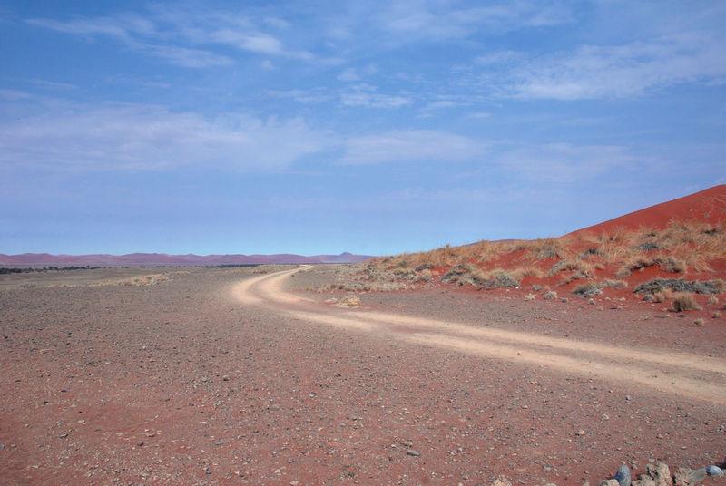 Namib Desert Namib Dunes Namibia Namibia Landscape NamibiaPhotography Sesriem, Namibia Sossusvlei Travelling Africa Arid Arid Climate Arid Landscape Beauty In Nature Car Trip Landscape Road Roadtrip Sesriem Sky The Way Forward Traces Transportation
