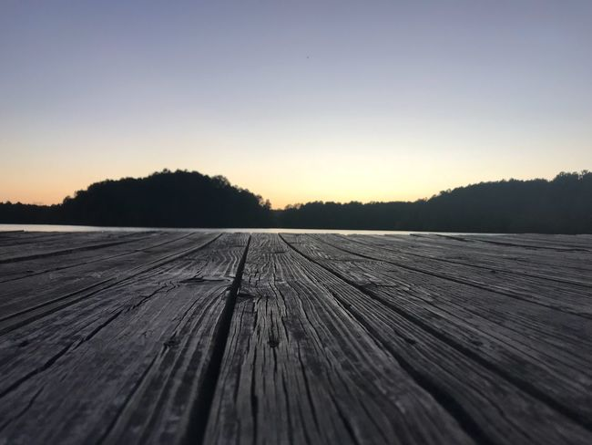 Wood - Material Copy Space Sunset Outdoors Nature No People Beauty In Nature Tranquil Scene Tranquility Scenics Landscape Backgrounds Rural Scene Summer Sky Clear Sky Tree Wood Paneling Day Close-up