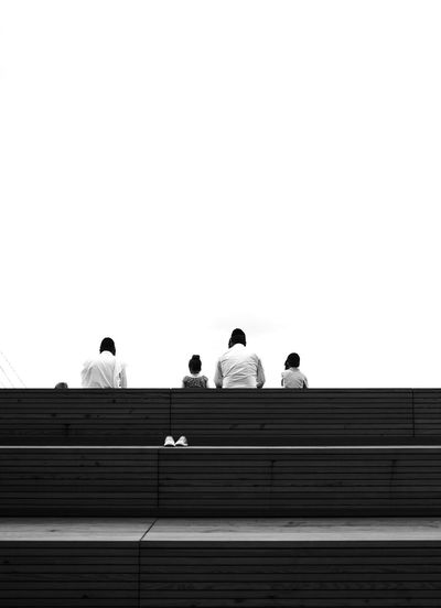 - Overlooking negative space eyeemphoto Streetphotography Eye4photography  EyeEm Gallery Travcimages Nycphotographer Popular Photos EyeEm Best Shots - Black + White Blackandwhite Photography Architecture Group Of People Copy Space Sitting Sky Men Staircase Clear Sky People Medium Group Of People Low Angle View The Street Photographer - 2018 EyeEm Awards Creative Space