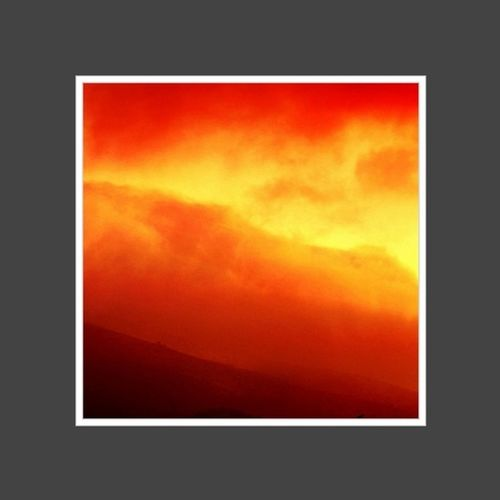 #fire#sky Clouds France Sky Fire Red Provence Lourmarin