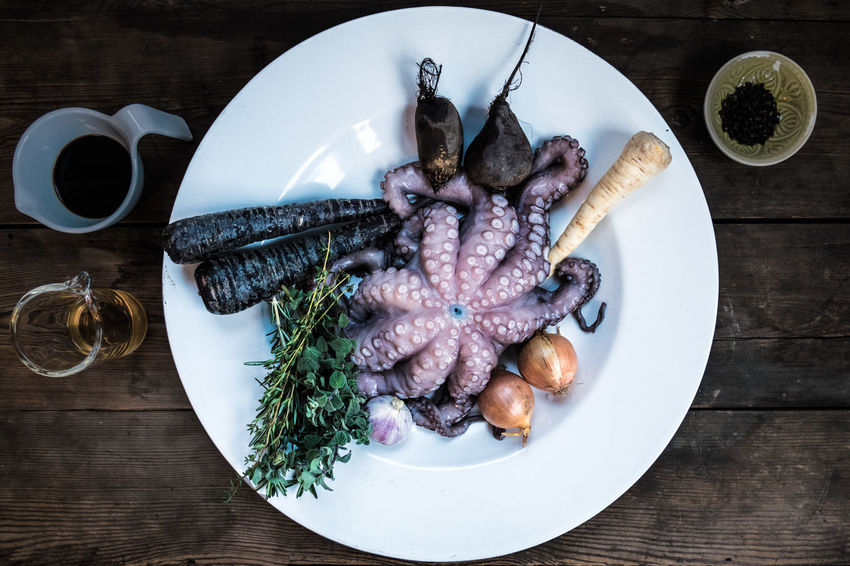 Pulpo No. 4 at gaumenschrei.de Boiled Calamari Close Up Close-up Cooking Details Food Foodblogger Freshness Healthy Eating Near And Far No People Octopus Pulpo  Seafood SeafoodLover Seafoods Squid Vegetable