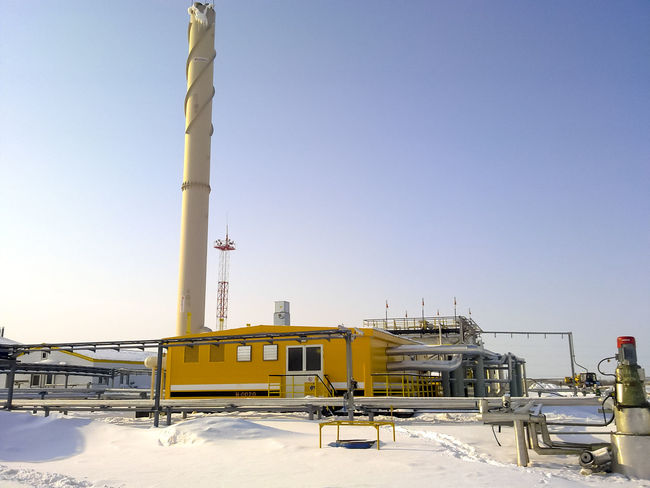 Oil Oil Pump Gas Gasprom Rosneft Refinery Industry Sky Clear Sky Nature Day Fuel And Power Generation Architecture Snow Winter Machinery Copy Space Outdoors Built Structure Factory Oil Industry Cold Temperature Low Angle View No People Sunlight Industrial Equipment