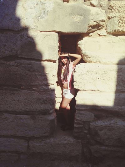 Traveling Sunny Day Vacation Me Greece Knossos Ancient Ruins Interesting Exciting Girl