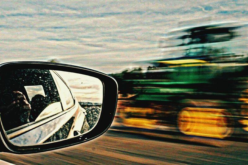 Mirror Retrovisor Retroviseur Roadtrip Speed Car Road Driving Road Trip Reflection Outdoors Vehicle Mirror