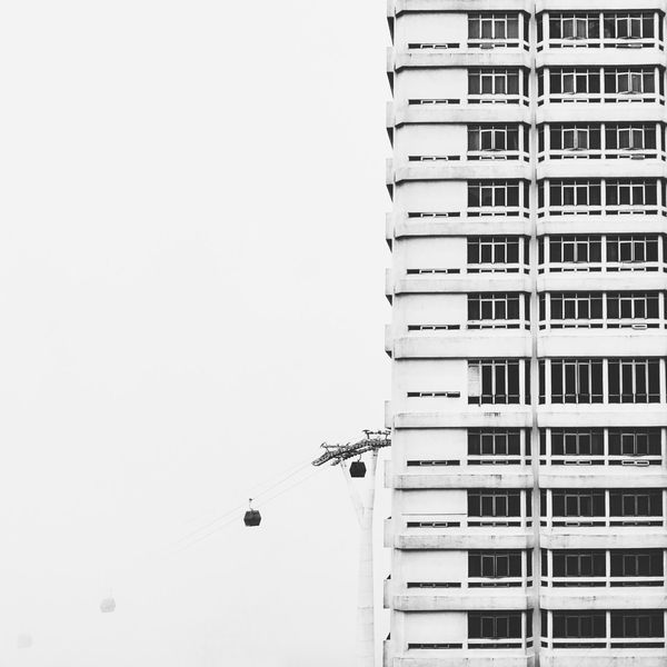 Hanging boxes I Architecture Cable Car Blackandwhite Black And White Minimalism