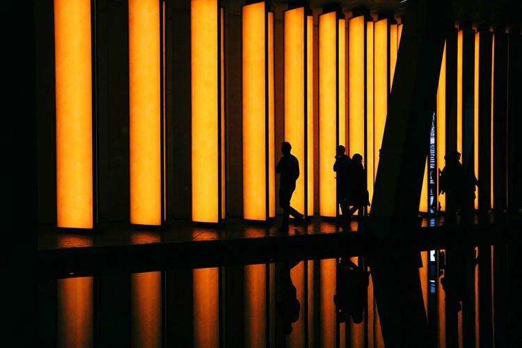 Yellow Paris, France  Architectural Column Built Structure Architecture People Yellow Silhouette Abstract Photography