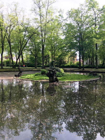 Bayreuth Beauty In Nature Day Green Green Color Growth Idyllic Lake Lush Foliage Nature No People Non-urban Scene Outdoors Park Pond Reflection Scenics Sky Standing Water Tranquil Scene Tranquility Travel Destinations Tree Tree Trunk Water