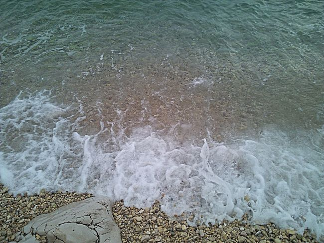Beauty In Nature Coastline Crikvenica Croatia Day Idyllic Motion Nature No People Outdoors Rock - Object Sea Shore Tranquility Water Wave