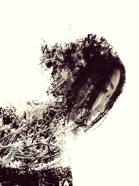 Photoshop Double Exposure двойная экспозиция зима рождество снег деревья ветки First Eyeem Photo