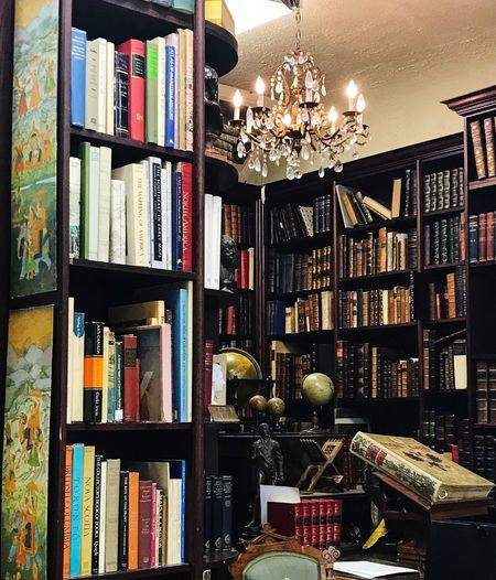 Reading Chandelier Library Bookstore Shelf Bookshelf Book Large Group Of Objects Publication Indoors  Arrangement Variation Education Library Abundance Collection Lighting Equipment Still Life