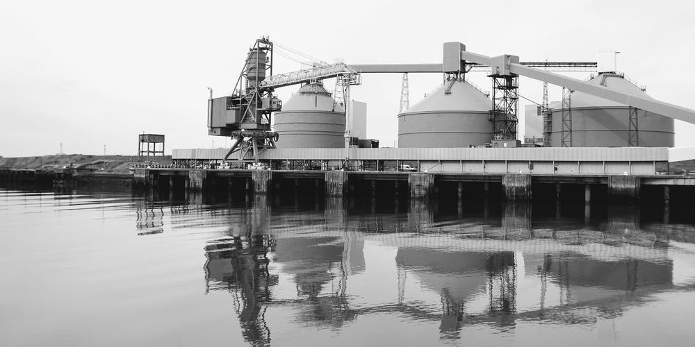 Blyth Harbour... Water Sea Industry Business Finance And Industry Sky Storage Tank Waterfront