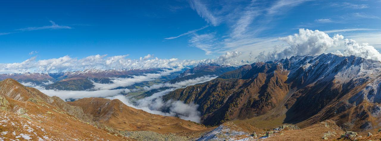 Panorama between tauern ridge, drau - drava valley, lienz dolomites and italian austrian border