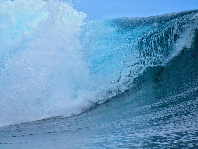 Beach South Pacific Tahiti ❤ Nature Ocean Tahiti Wave Surf Surfbreak Teahupoo Sea Cold Temperature Water Winter Blue Landscape Go Higher Summer Exploratorium