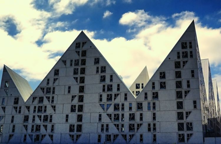 Aarhus City Of Culture Aarhus, Denmark Architecture Blu Sky Building Exterior Cloud - Sky Low Angle View Modern Architecture Modern Art No People Sky