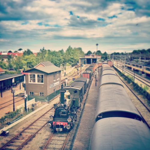 Train Train Station Steam Locomotive Steam Trains Station Trainphotography Vintage Hoorn Netherlands Rail Railroad Track Railroad Transportation Tourism Tourist Attraction  Holiday Vacation Sky And Clouds Sky Focus On Foreground