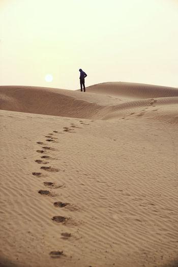 Desert Footsteps Landscape Landscape_photography Photography Silhouette Sunrise Thar Desert Wanderlust