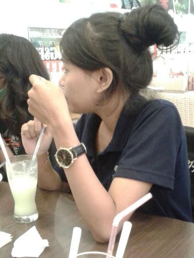 With bestie Lunch Time! Candid Shot
