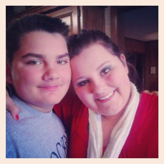 Happy Thanksgiving from daniel and chelsea cranton HappyTurkeyDay  Brother &sister Babybrother BigSister
