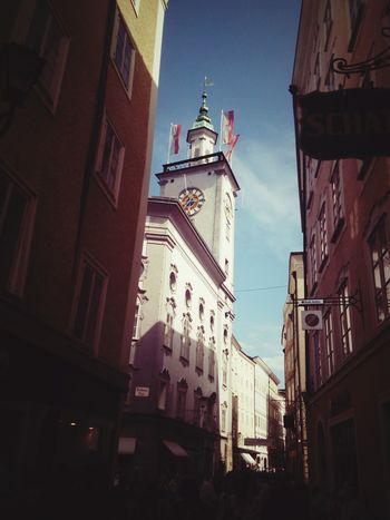 Salisburgo Austria Politics And Government Cityscape Sky Architecture Building Exterior Built Structure Historic Clock Tower