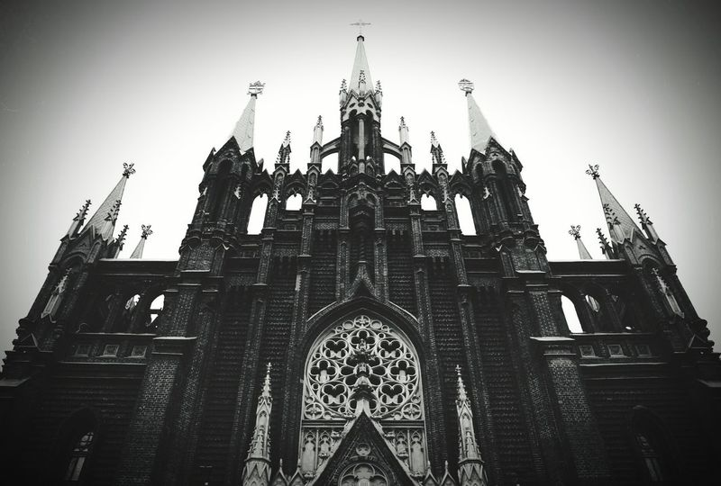 Church Cathedral Catholic Church Catholic Moscow Russia Gothic Dark
