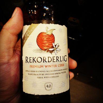 Hot or cold. Winter is coming. Cider Rekorderlig
