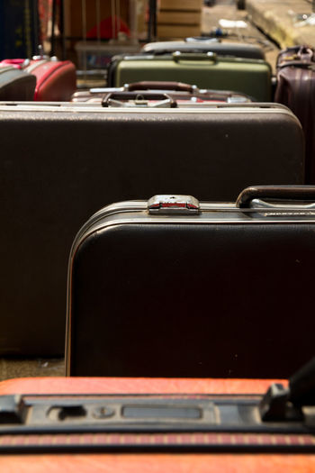 Full Frame Shot Of Luggage