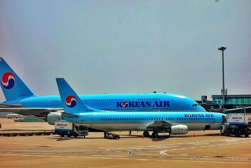 Korea Photos Korean Airlines Airplane A380 Taking Photos Airport