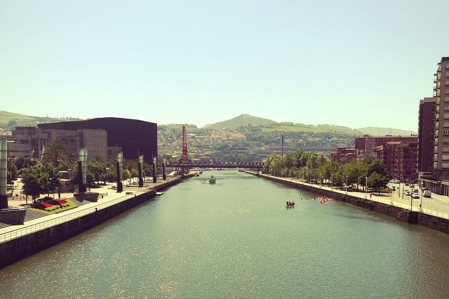 Taking Photos Bilbao Bilbaolovers River Boats⛵️ Gruakarola Bridge View