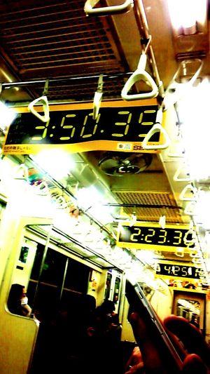 東京マラソン電車中刷