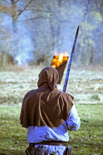 Peasants' revolt a.d. 1573.,warrior, reenactment of the final battle, 19, Donja Stubica, Croatia, Europe, 2016. A.d.1573. Battle Battlefield Donja Stubica History One Person Peasants' Revolt, Standing Stubaki Stubica Warrior