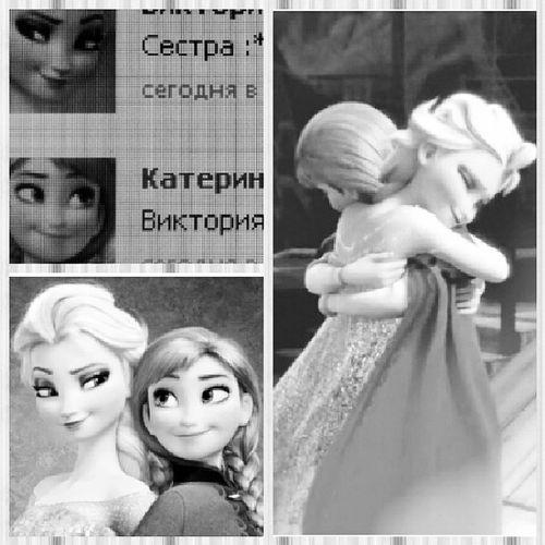 Сёстры))) сестра лучшая подруга люблю малышка Love Forever Friends My Nice одинаковые авы Анна Эльза Холодное сердце мультфильм  принцесса королева жду единственная моя девочка не_дам_в_обиду любимая очень жду