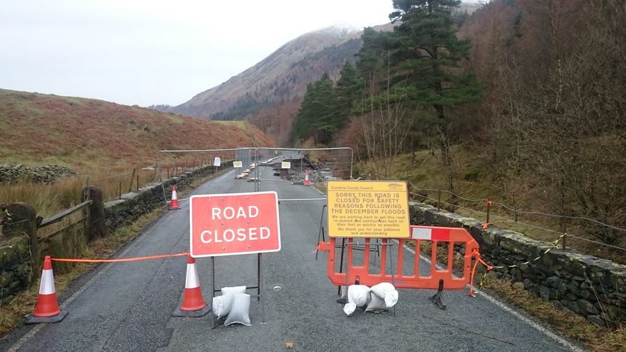 A591 to keswick december 2015 flood damage. I think this years floods have been caused by it being so warm as this area is usually covered in snow A591 Flood Damage 2015  Uk Weather Cumbria Keswick On Route To Keswick Too Warm For Snow