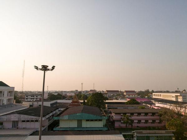 View the upper corner of the building Sakon nakhon hospital. Hospital Old Town SakonNakhon ,Thailand Thailand Fantastic Horizon Over Land Old Buildings Sakonnakhon
