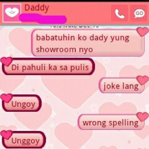 daddy!!!! HAHA.. Igdavao Daddy Instagood Convo text