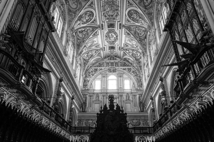 Cathedral of the Mezquita in Cordoba, Spain Ancient Architecture Cathedral Córdoba Mezquita Mezquita De Córdoba SPAIN The Week On EyeEm Ancient Architecture Black And White Building Buildings First Eyeem Photo Religion Religious  Religious Architecture