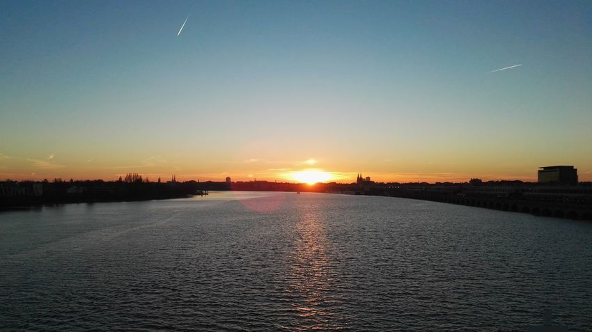 Sunset Sky Sun No People Outdoors Tranquil Scene Tranquility Water Scenics Landscape Beauty In Nature Nature City Bordeaux, France Garonne River